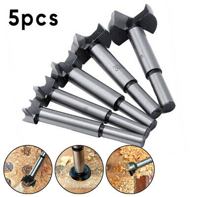 5 Pcs/Set Wood Drill Bit Set Hole Saw Cutter Woodworking Tool With Round Shank
