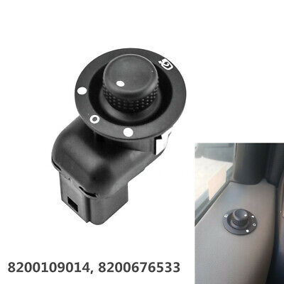 1x Black Mirror Adjust Switch Fold Function for Renault Scenic Laguna 8200676533