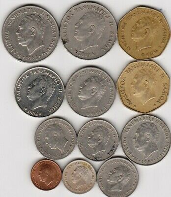 12 different world coins from SAMOA