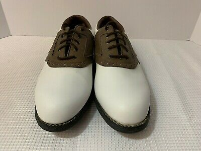 7235e527d Men s Footjoy Golf Shoes Mens Size 10 M Greenjoy White Leather Soft Spikes