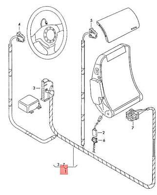 For Bmw Genuine Air Bag Wiring Harness 32301097246