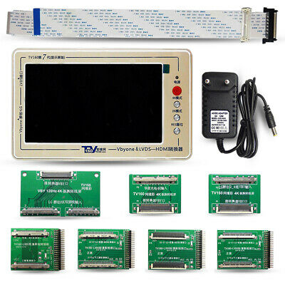 TV160 Mainboard Tester Tool for 4K TV Vbyone & LVDS-to-HDMI With Seven Adapter