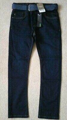 Next Boys BRAND NEW skinny denim jeans With Belt Age 11yrs BNWT