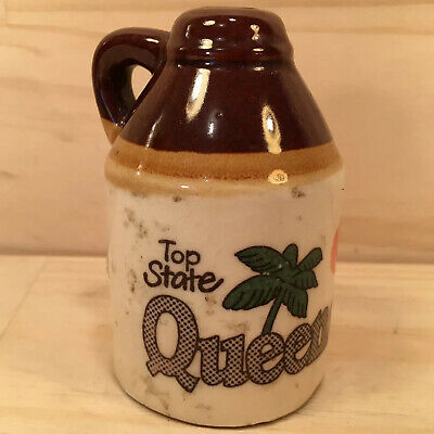 "QUEENSLAND: TOP STATE ""Brown"" Collectable Australian Souvenir Salt Shaker"