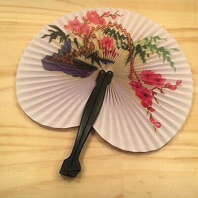 "FLORAL TREE ""Pink & White"" Beautiful Traditional Handheld Folding Fan Accessory"