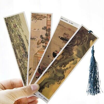 30pcs/lot Traditional Chinese Culture Theme Vintage Paiting Bookmark 4*15cm