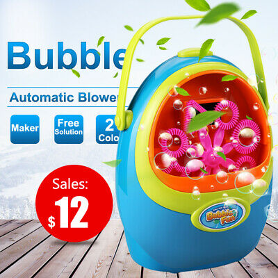 Fully Automatic Bubble Machine Electric Durable Blower Maker kid Bubble Solution