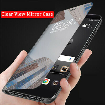 For Xiaomi Redmi Note 7 6 5 Pro Clear View Smart Mirror PC Flip Stand Case Cover