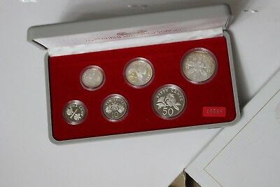 1985 Singapore Silver Proof Set Boxed & COA (UCA1802M6)