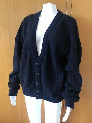 Carlo Alberto Australia-Cable Knit Wool Cardigan-Size M