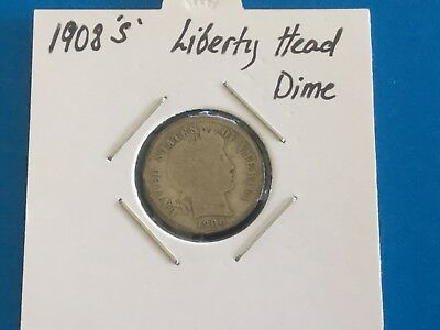 """1908 """"S"""" US Liberty Head Dime. 110 years old."""