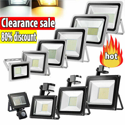 LED Flood Light 10W 20W 30W 50W 100W 150W 200W 300W 500W PIR Motion Sensor lamp