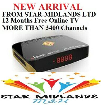 NEW ARRIVAL ISTAR KORE A9000 12 Months Free Online TV MORE THAN 3400 Channels