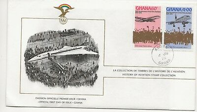 Ghana FDC - History of Aviation Stamp Collection - 1978  (3162) (Z)