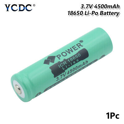 High Capacity 4500mAh 3.7V 18650 Battery Rechargeable For Game Console Torch A6