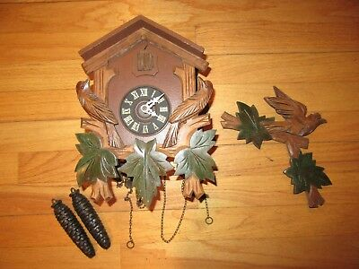 9R/West Germany/Herbert Herr??/8 Day Cuckoo Clock/Parts Or Repair!!