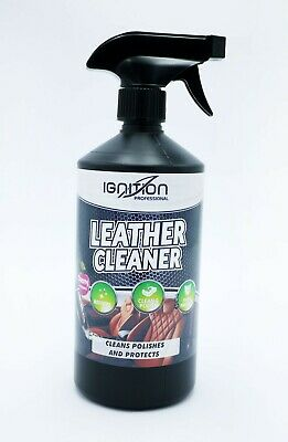 ** Ignition Leather Cleaner 750Ml New **  Cleans Polishes & Protects Car Care