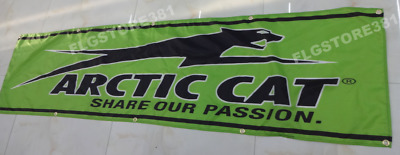 Arctic Cat Banner 2x8ft Flag Sign Wall Decor Garage Shop Man Cave Large Banner