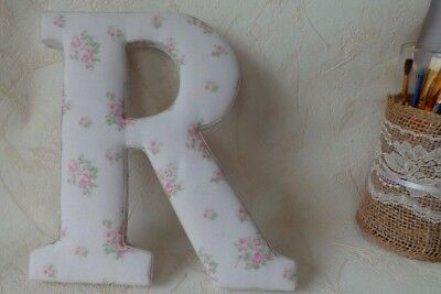 Wood Letter R Fabric Covered Wall Letters Nursery Decor