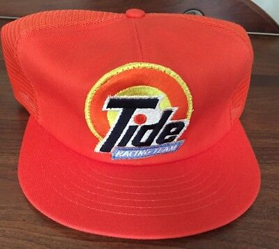 Vintage Tide Racing Team Snapback Baseball Cap Hat Mesh Trucker, Adjustable, New