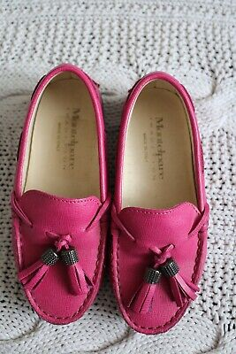 new girls Andrea Montelpare Tradition pink leather tassel loafers shoes size 29