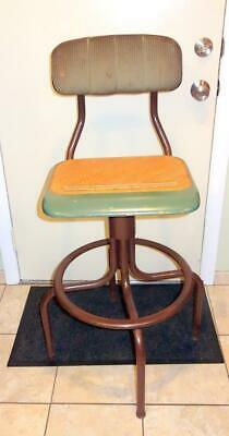Vintage Western Electric Telephone Operators Chair Padded Back Swivel Seat !!