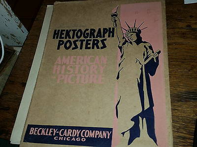 Hektograph Posters AMerican History Picture