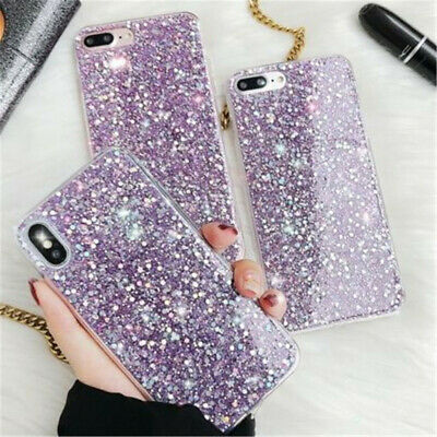 Bling Glitter Full Sparkle Protective Cute Slim Fit Phone  Cover Case For iPhone