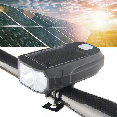 Waterproof Rechargeable Bright Solar LED Bike Bicycle Cycle Front Head Light BLE