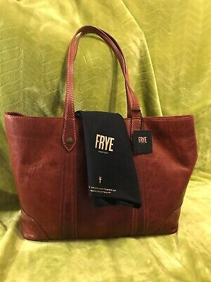 4965c108f Frye Soft Leather Melissa Shopper Tote Bag Red Clay Authentic Bag NWT $358