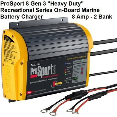ProMariner ProSport 8 Gen 3 Heavy Duty On-Board Marine Battery Charger - 8 Amp