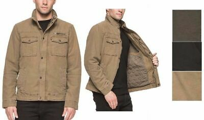NEW Levi's Men's Heavy Duty Washed Cotton Two Pocket Military Cargo Jacket