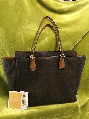 3494ddfa844005 MICHAEL Michael Kors Womens Dee Dee Brown Tote Handbag Purse Large $358