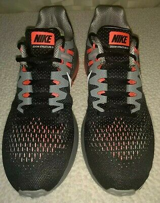 low priced 65cec b1e3f Nike Air Zoom Structure 20 Men s Running Black White Gray Orange 849576-005