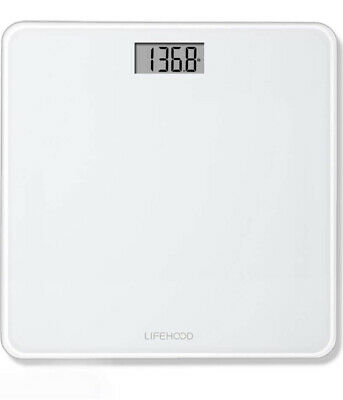LIFEHOOD Bathroom Scale, 4 High Precision Sensors Body Weight Scale 400lbs -NEW