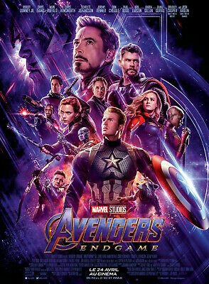 AVENGERS: ENDGAME - Affiche cinema 40X60 - 120x160 Movie Poster