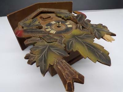 "German Black Forest Cuckoo Parts Clock 8-Day ""215""  Movement Earlier Bird D027"
