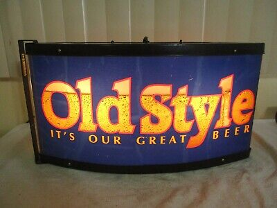 "Vintage Old Style Beer Lighted Bar Sign Advertisement Heilemans Brewery 23"" x 13"