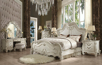 NEW TRADITIONAL ANTIQUE White Bedroom Furniture - ARIES 6pcs ...