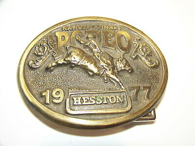 1977 National Finals Rodeo Belt Buckle Oklahoma City Hesston 4Th Annual Telecast