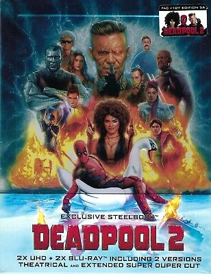 Deadpool 2 Super Duper 4K FilmArena 5A Embossed Limited Edition 4-Disc SteelBook