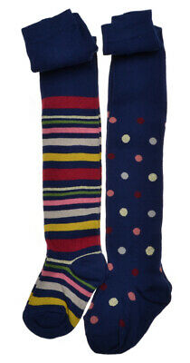 2 pairs of Girls tights - Spots & Stripes Cotton Rich tights