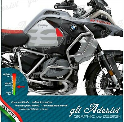 2 Adesivi Fianco Serbatoio Moto BMW R 1200 1250 gs Adventure LC GS new red grey