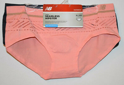 367b7394add2 NEW BALANCE Performance Seamless Hipster Panty, 2-Pack, Peach/Charcoal, Size