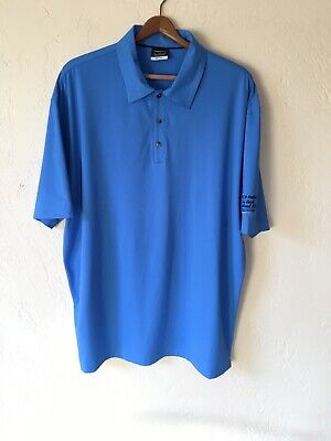 60629af2 Nike Golf Standard Fit Polo Shirt Adult Large Blue Golfer Casual Rugby Dri  Fit