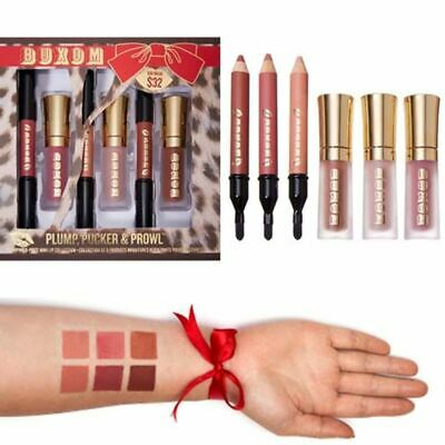 Buxom Full On Lip Cream Polish Plumper Gloss & Mini Plumpline Liner Set X6 Boxed