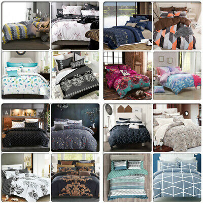ARTISTIC Queen/King/Super King Size Bed Doona/Duvet/Quilt Cover Pillowcases Set