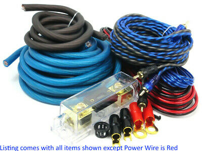 0 Gauge Amp Kit Amplifier Install Wiring Complete 0 Ga Installation Cables 6000W