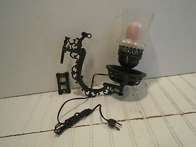 Cast Iron Swing Arm Wall Sconce -  Electrified Antique Vintage Lamp