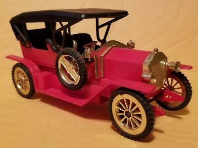 PlayArt Vintage 1:20 Plastic Red Antique Car Loose from the 1970s Hard to Find
